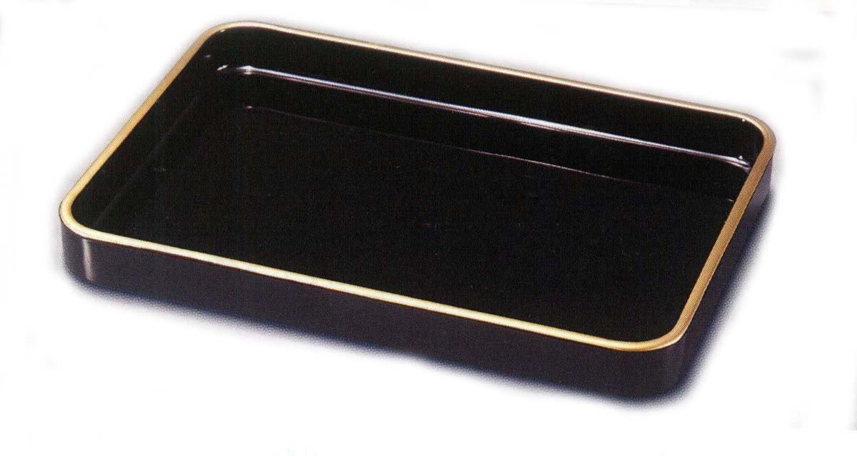 紀州塗木製 2尺 金縁付うるし塗(手塗)賞状盆 B0052QH42Y