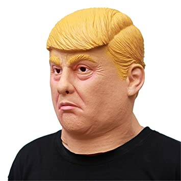 VUKUB Donald Trump Máscara De Halloween Decoración Disfraces Máscara Cosplay Full Head Máscara Látex Fuego Lobo