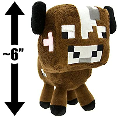 "Baby Cow ~6"" Minecraft Overworld Mini-Plush Series: Toys & Games"