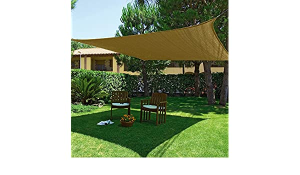 NORTENE Kit SunNet Malla Sombreadora Impermeable Beige 3,6m x 3,6m: Amazon.es: Hogar