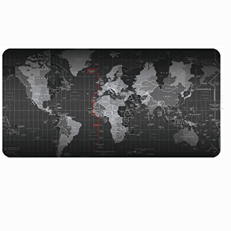 Haofengjing Alfombrilla Mapa Del Mundo Grande Juego Alfombrilla De Ratón Estera Teclado De Computadora Portátil