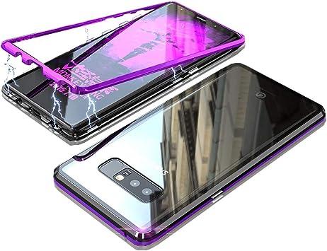Jonwelsy Funda para Samsung Galaxy Note 8, Fuerte Tecnología de Adsorción Magnética Metal Bumper, Cubierta Trasera de Transparente Vidrio Templado Ultra Delgado Case Cover para Samsung Galaxy Note 8: Amazon.es: Electrónica