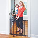 """Toddleroo by North States 38.25"""" wide Portico Arch Baby Gate: Decorative heavy duty metal safety gate with one hand operation"""