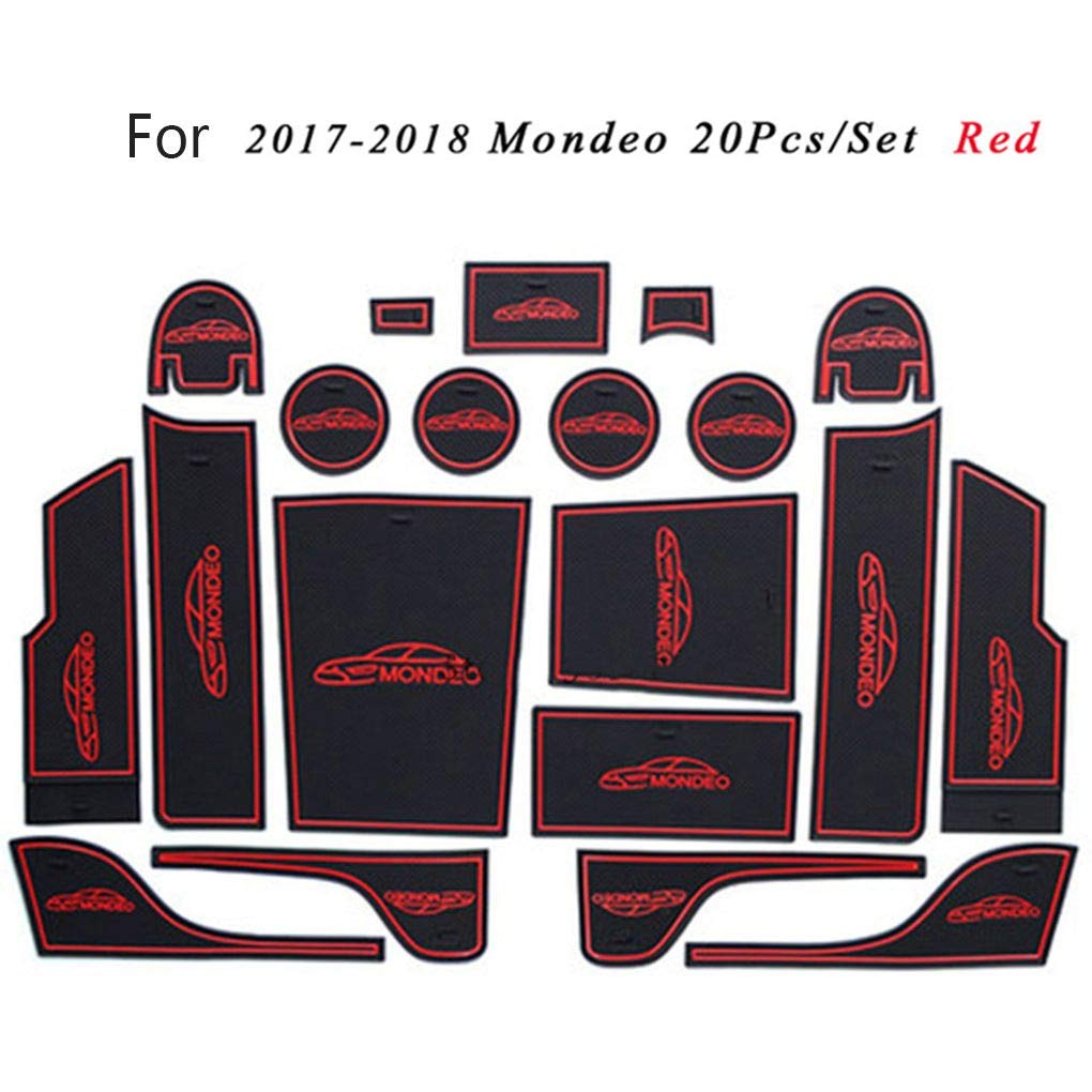 Republe 20pcs Ersatz f/ür Ford Mondeo 2017-2018 Tor Slot Mat Anti-Rutsch-Groove-T/ür-Schalen-Auflage-Auto-Zubeh/ör