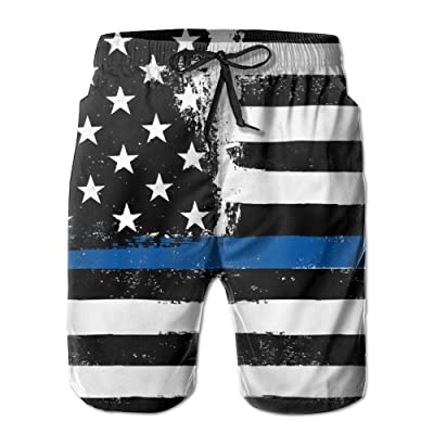 Men's Quick Dry Swim Trunks Usa American Flag Board Shorts With Pockets