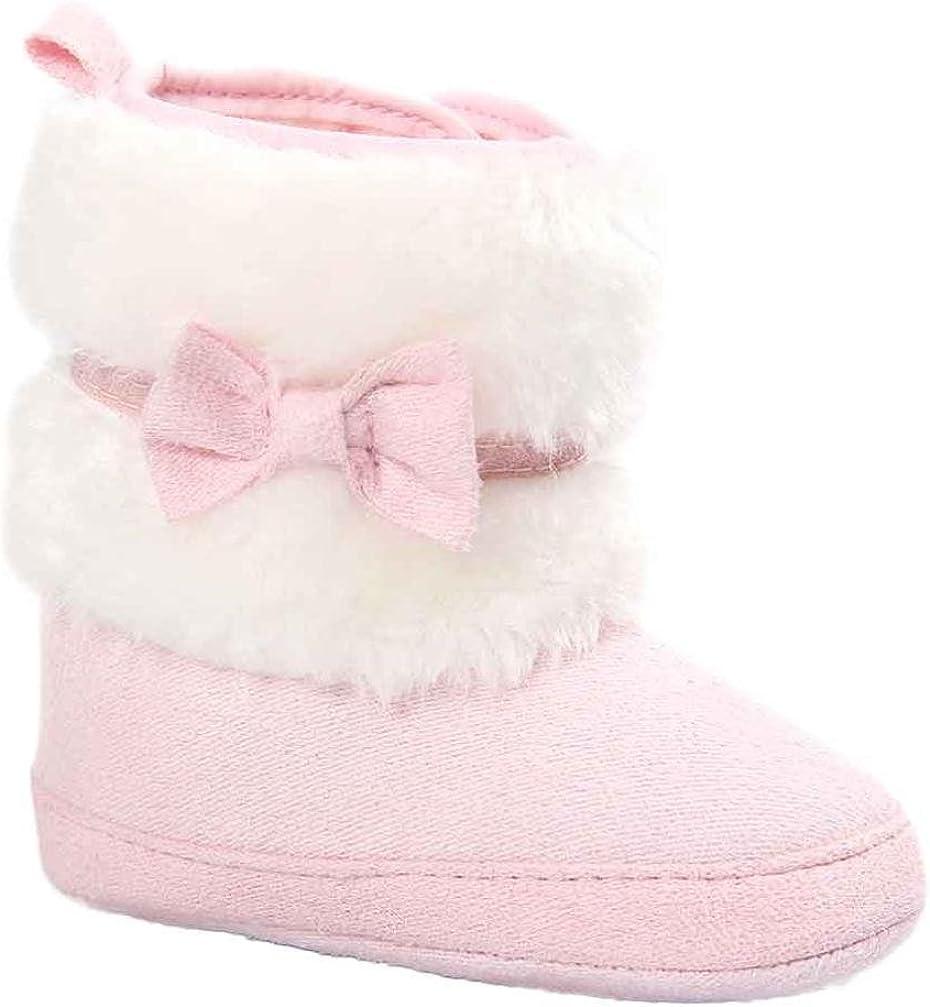 Tonsee/® B/éb/é Bowknot Hiver Chaud Semelle Douce Bottes de Neige Berceau Chaussures Tout-Petits