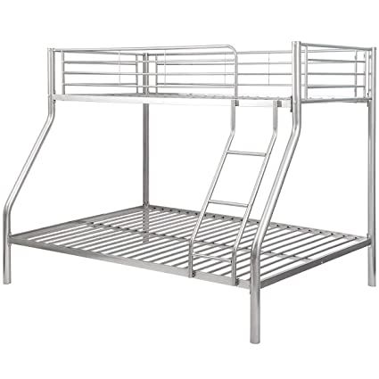 Amazon.com: Bunk Bed Twin Over Full,JULYFOX Modern Metal Platform ...