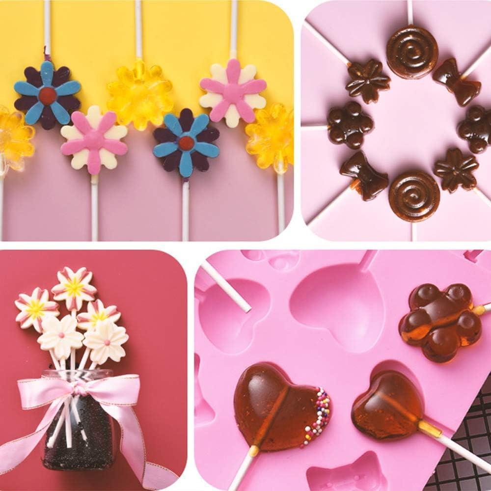 "1000 X 4 /""papel Lolly Pop Palos Lollipop Cookie Craft"