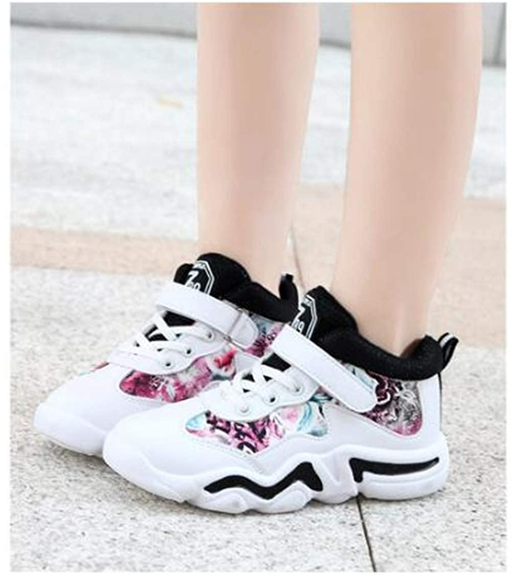 YSNJL Kids Basketball Shoes Sneakers Outdoor Trainers Durable Sport Shoes