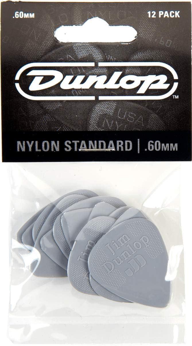 Dunlop 44 Púas NYLON STANDARD gris claro 0.60 mm