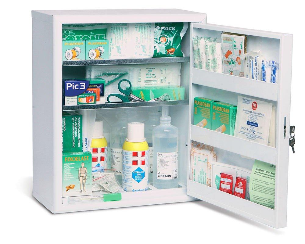 ARMADIETTO ALLEGATO 1 cassetta medica primo pronto soccorso oltre 3 dipendenti ARP89 pvs