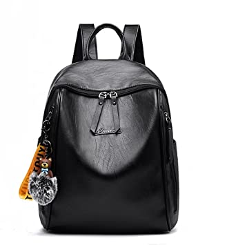 12947238c4c7c Damen Rucksack Elegant Damen Daypack Schultertasche Schwarz Reiserucksack