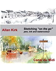 Sketching on the go - Canal du Midi: Pen, Ink and Watercolour