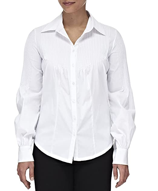 CREATIONS DOUCEL Blusa blanca de algodón LICRA
