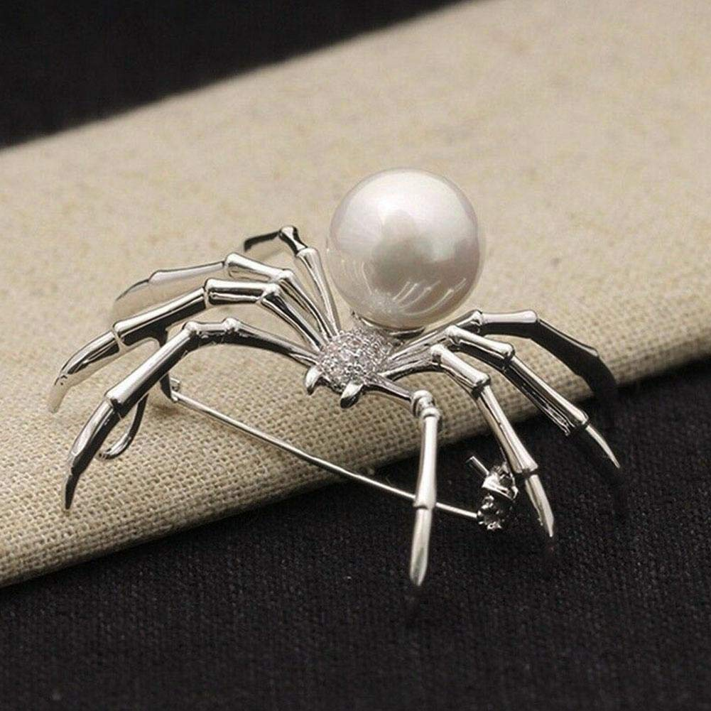 Golden Lank Halloween Spider Brooch Clothes Accessories Brooches Birthday Gifts Jewelry Pin Brooch