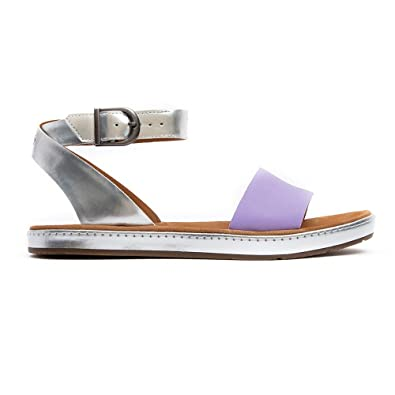 5b239bee3c48f Clarks Womens Casual Clarks Romantic Moon Leather Sandals In Lilac Combi  Standard Fit Size 6