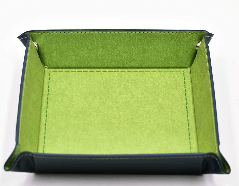 Mukoo 1PC DND Board Game PU Leather Folding Hexagon Dice Tray Coin Jewelry Key Storage Box