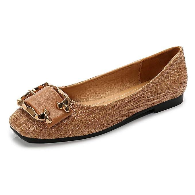 Zapatos De Trabajo Confort Para La Mujer Ballet Informal Zapatillas Planas Mocasines Mocasines Cuero: Amazon.es: Ropa y accesorios