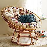 Aashi Enterprise Cane Papasan Comfortable Chair With Cushion - Folding