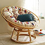 A&E Cane Papasan Comfortable Chair With Cushion - Folding