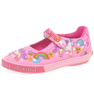 74ac2774 Lelli Kelly Unicorn Dolly Girls Infant Canvas Shoes Junior 1 Std Unless  Stated in Colour Pink