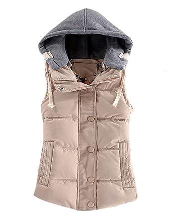 Amazon.com: johe Slim Fit – Cordón de la mujer con capucha ...