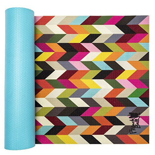 WITHit French Bull Yoga Mat – Premium Yoga Mat – 4 Color Design - Non-Slip Backing – Easy to Clean – Latex Free – Lightweight and Durable – 72