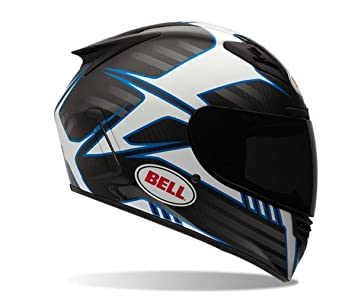 Bell cubrió Adult Star carbono carretera racing casco de moto, color azul