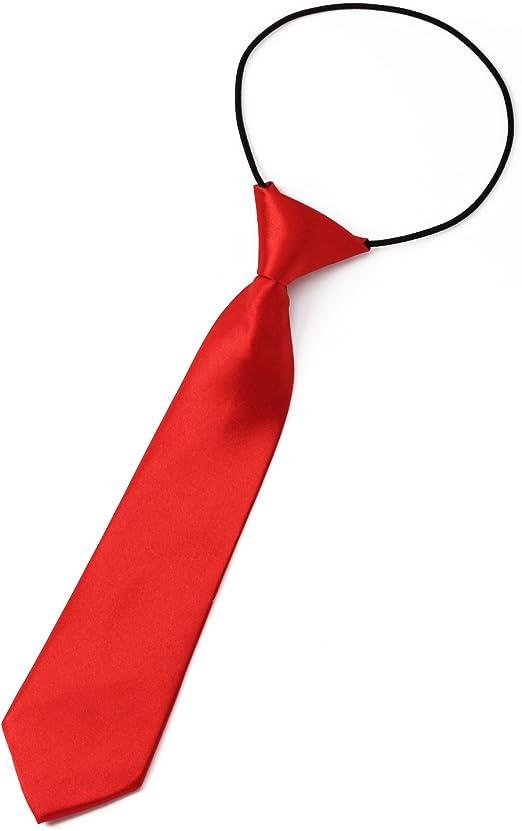 Pinzhi - Ajustable Corbata Roja para Niños Fiesta 27 x 7 CM ...
