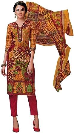 Readymade Gorgeous Printed Cotton Salwar Kameez Suit Indian
