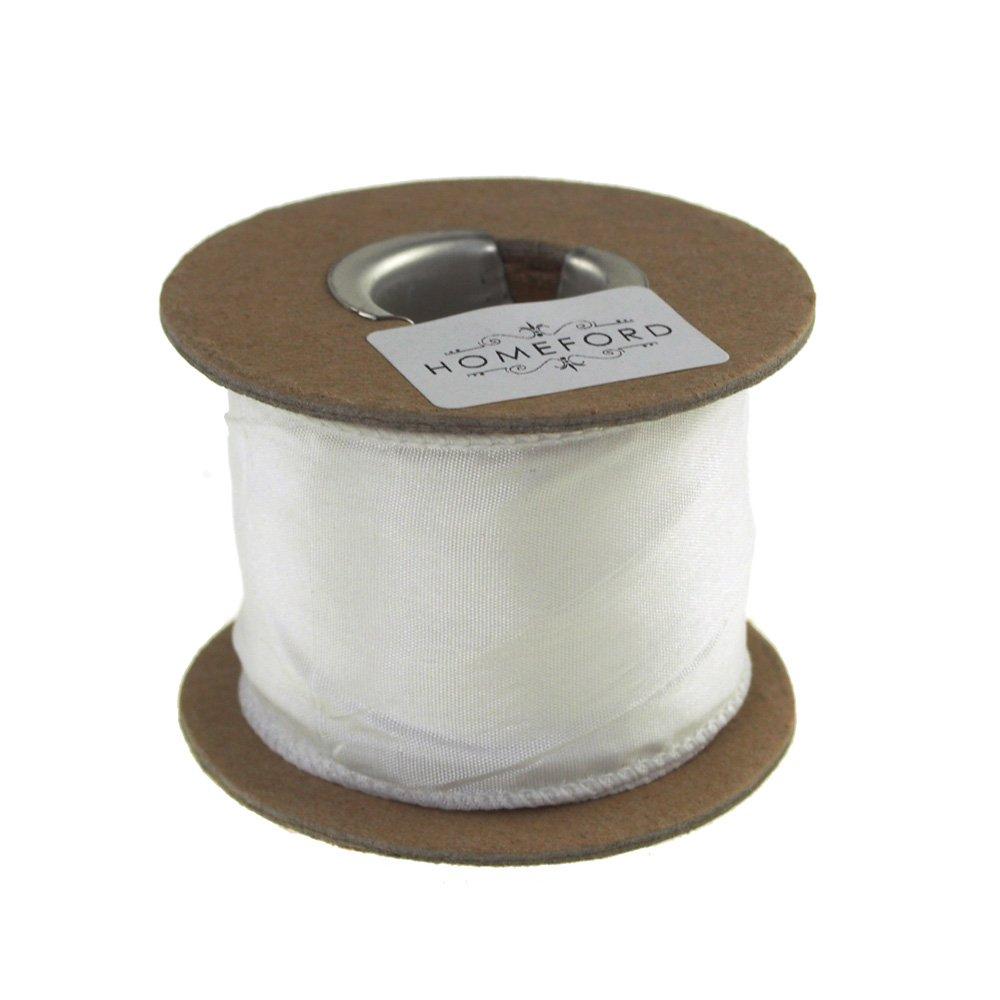 Homeford FAM0000C15972601 Ribbon, 2'', White
