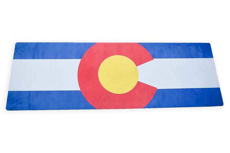 Colorado State Flagヨガマット B06XCN9Y1L