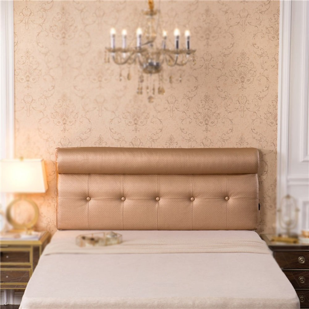 Leather backrest / bedside soft cushion / double bed pillow / sofa waist cushion / comfortable bedside cushion ( Color : A , Size : 1806010cm )