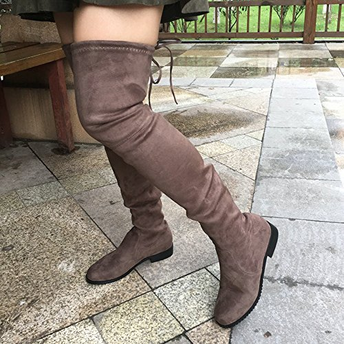 Hot Winter Fashion Suede On Thigh Flat Sexy Knee Pull Mud High Style Women's Boots qzwrztnB