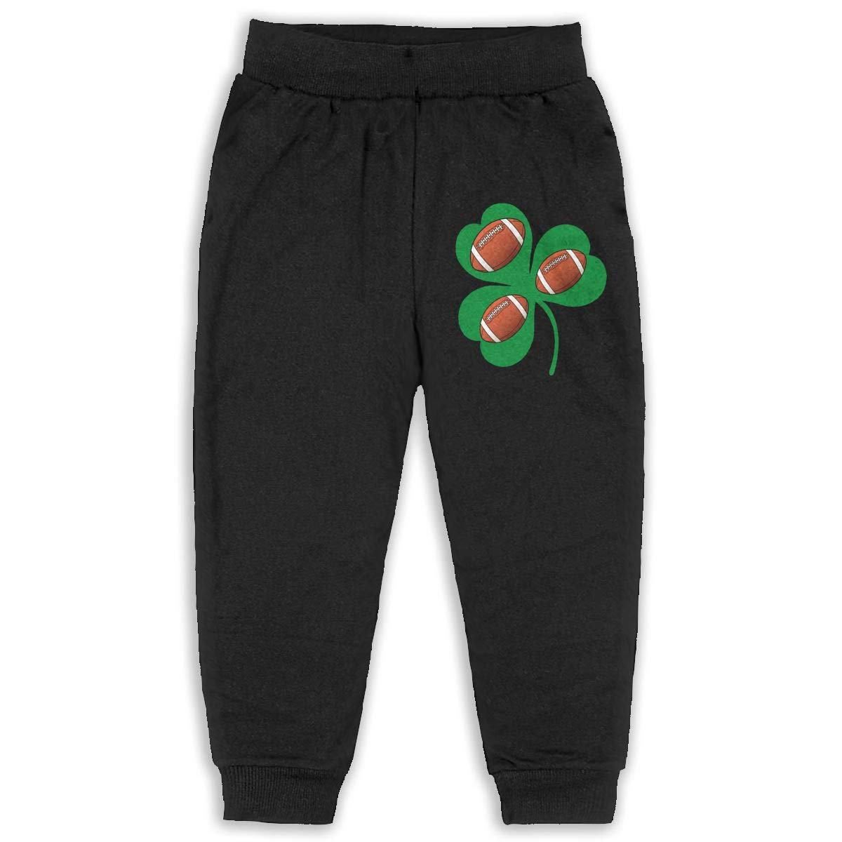 Udyi/&Jln-97 Green Irish Shamrock Football Unisex Kid Toddler Sweatpants Soft Cozy Girls Boys Jersey Pant
