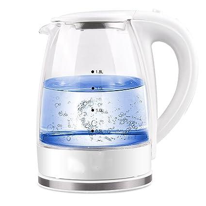 XUEQIN Hervidores y dispensadores de agua caliente Hervidor eléctrico de cristal 304 de acero inoxidable dormitorio