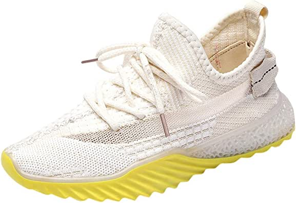 FNKDOR - Zapatillas de Punto para Mujer, Transpirables, Coreanas ...