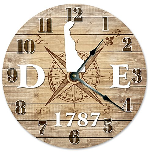 DELAWARE CLOCK Established in 1787 Decorative Round Wall Clock Home Decor Large 10.5