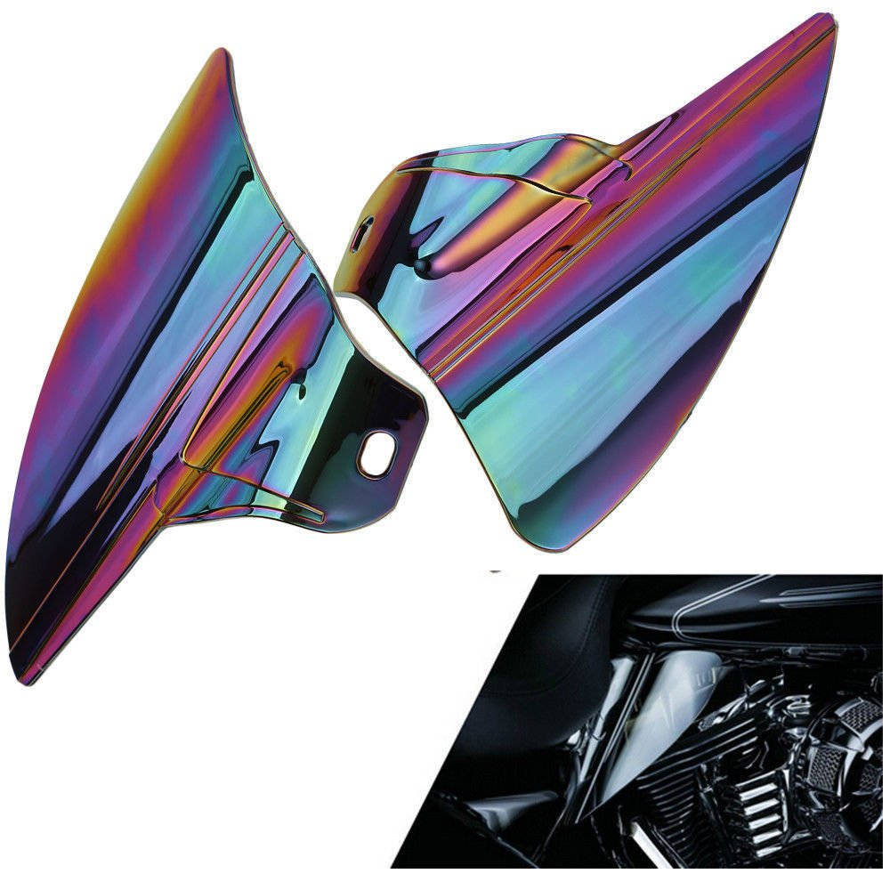ECLEAR Saddle Shield Heat Deflector For Harley Touring Electra Glide Trike 2009-2015 - Smoke