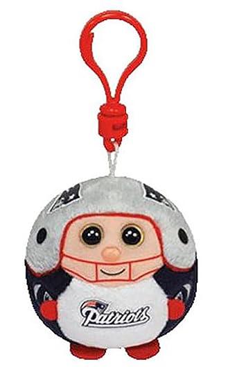 9586f6b201b Amazon.com  Ty New England Patriots NFL Beanie Ballz Clip  Toys   Games