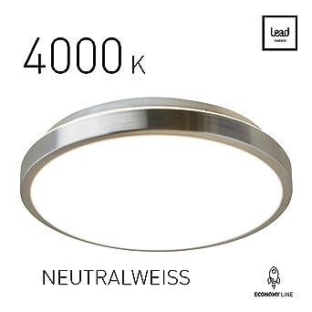 LED Deckenleuchte Rund Wohnzimmer Neutralweiss 4000 K