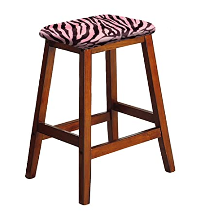 Strange Amazon Com The Furniture Cove Wood Bar Stool Saddle Seat Lamtechconsult Wood Chair Design Ideas Lamtechconsultcom