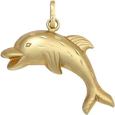 Anhänger Delfin Delphin Delphinchen aus 333 Gold Gelbgold