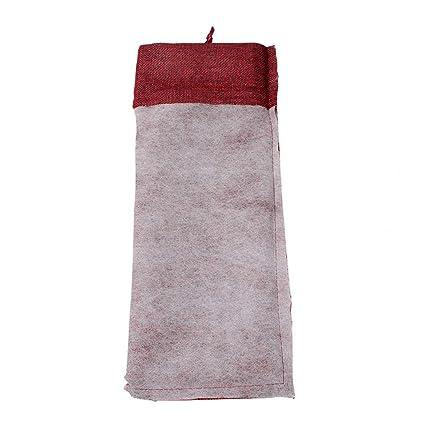 Faylapa - Bolsas de yute para vino, 10 unidades, para fiestas de Hallowen, bolsas de vino con cordón, 36,8 x 14,9 cm (rojo): Amazon.es: Hogar