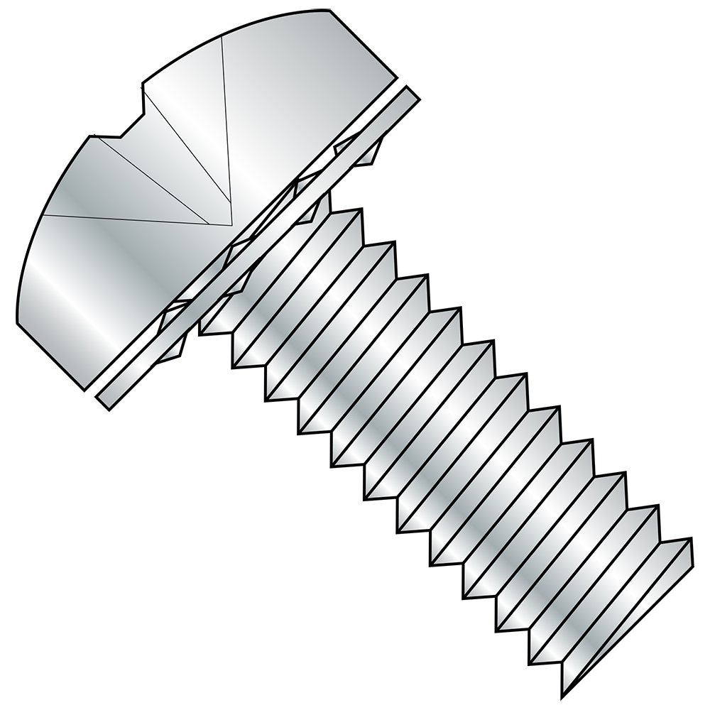 1-1//2 Length #2 Phillips Drive Steel Pan Head Machine Screw With Internal-Tooth Lock Washer Pack of 50 Zinc Plated Meets ASME B18.13 #8-32 Thread Size Imported Fully Threaded