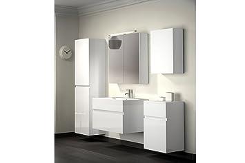 Bad11®   Badmöbelset Pandora 5 Teilig 70 Cm, Badezimmer Möbel In Hochglanz  Weiß