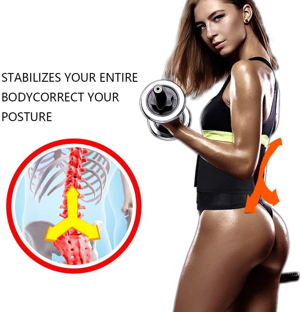 doppelte magische W/ölbung,Kielunterst/ützung entlasten Sie r/ückseitige Schmerz BLAZOR Taillen Trimmer,Beschleunigen Sie Taillenschwitzen verhindern Sie effektiv Sportbelastung auf dem R/ücken