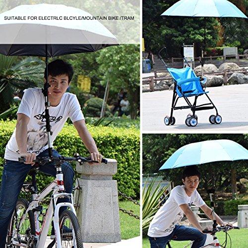 Suerhatcon Adjustable Umbrella Holder Swivel Connector Handlebar Frame Stand for Bike Stroller Wheelchair Baby Chair Pram (Model # 1) by Suerhatcon (Image #7)