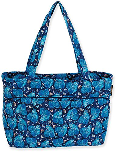(Laurel Burch Indigo Cats Shoulder Tote (Blue))