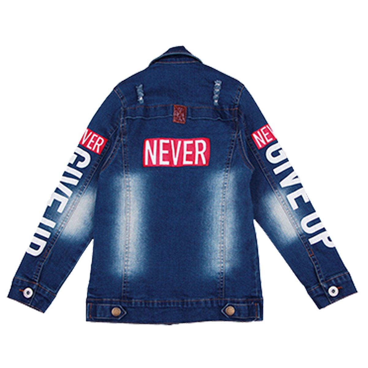 OnlyAngel Kids Boys Classic Blue Washed Single Breasted Denim Jacket Age 4-12